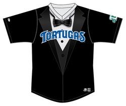 Photo of Daytona Tortugas Tuxedo Jersey #2 - Size 42 - Worn by José Torres
