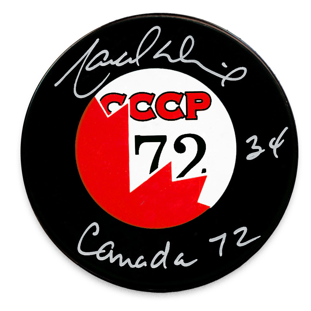 Marcel Dionne Team Canada 1972 Summit Series Autographed Puck