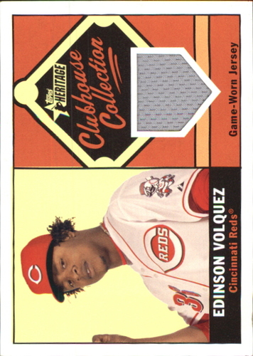 Photo of 2010 Topps Heritage Clubhouse Collection Relics #EV Edinson Volquez