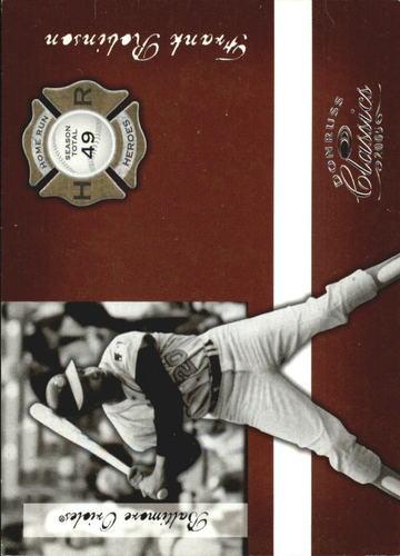 Photo of 2005 Donruss Classics Home Run Heroes #20 Frank Robinson