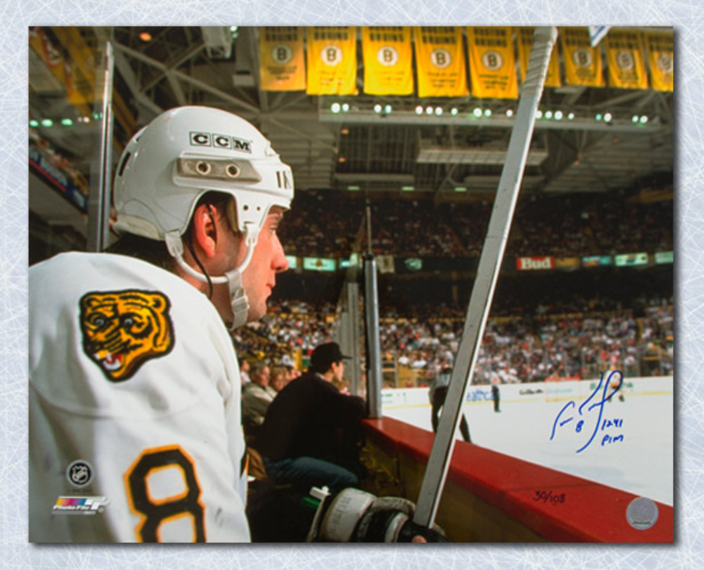 Cam Neely Boston Bruins Signed Penalty Box 16x20 Photo with 1241 PIM Note #/108