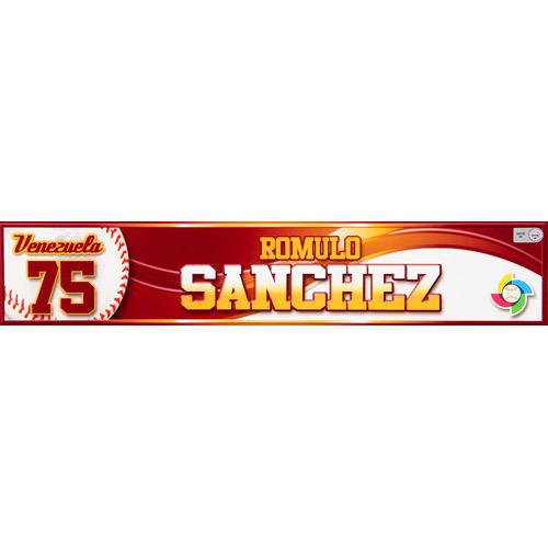 Photo of 2013 WBC: Venezuela Game-Used Locker Name Plate - #75 Romulo Sanchez