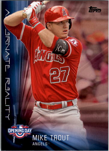 Photo of 2016 Topps Opening Day Alternate Reality #AR8 Mike Trout