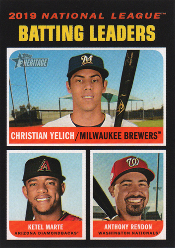 Photo of 2020 Topps Heritage #62 Anthony Rendon/Christian Yelich/Ketel Marte LL