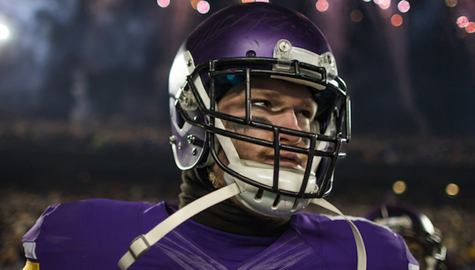 VIRTUAL VIDEO CHAT WITH KYLE RUDOLPH & AUTOGRAPHED VIKINGS JERSEY