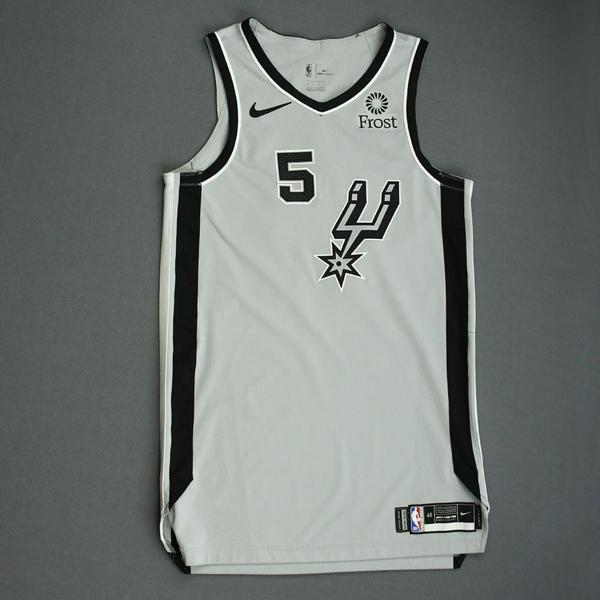 Image of Dejounte Murray - San Antonio Spurs - Game-Worn Statement Edition Jersey - NBA Mexico Games - 2019-20 NBA Season
