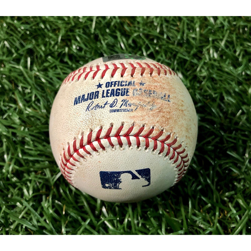 Photo of Game Used Baseball: Anthony Kay ball in dirt to Kevin Kiermaier - Anthony Kay MLB Debut (ND, 5.2IP, 8 SO) - September 7, 2019 v TOR