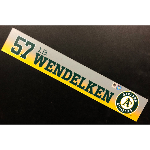 Photo of Game-Used 2020 Spring Training Locker Nameplate - J.B. Wendelken