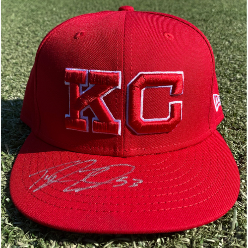 Autographed/Game-Used Monarchs Hat: Tyler Zuber #53 (STL @ KC 9/22/20) - Size 7 5/8