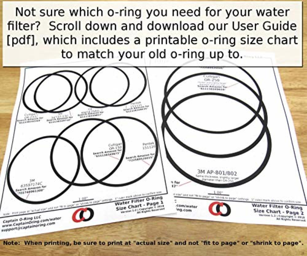 Photo of (3 Pack) GE HHRING / WS03X10054 (for GXWH30C, GXWH35F, GNWH38F, GNWH38S, GXWH40L) Buna-N ORing by Captain O-Ring LLC