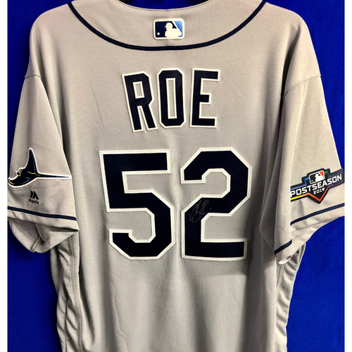 Photo of Team Issued Postseason Autographed Jersey: Chaz Roe
