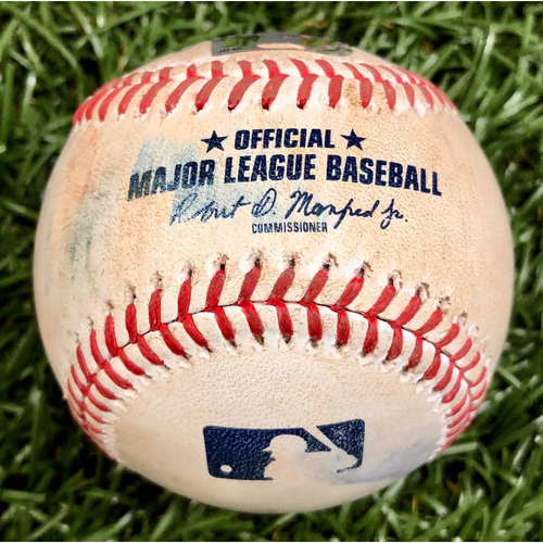 Photo of Game Used ALWC Game 1 Baseball: Lourdes Gurriel Jr. foul ball off Diego Castillo - Lourdes Gurriel Jr. First Career Postseason Game - September 29, 2020 v TOR