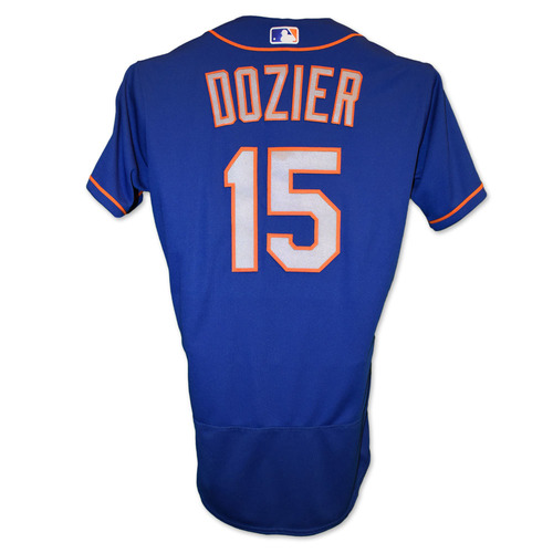 Photo of Brian Dozier #15 - Team Issued Blue Alt. Road Jersey - 2020 Season