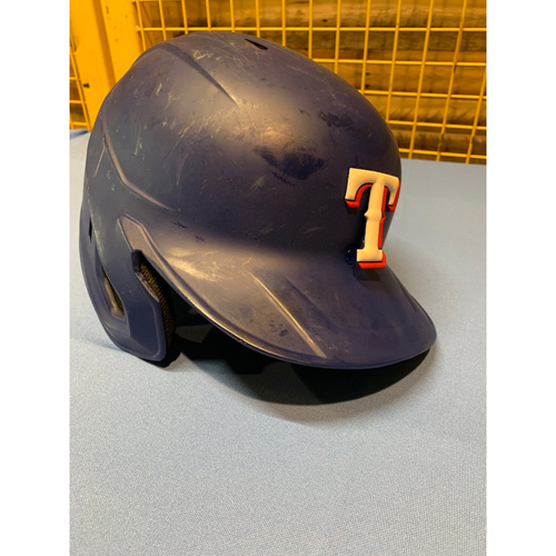 Shin-Soo Choo Game-Used Matte Blue Helmet Worn Opening Day 2020 - Inaugural Opening Day at Globe Life Field