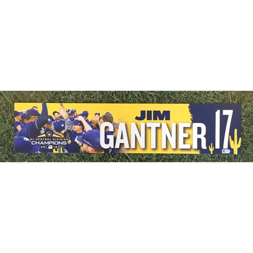 Photo of Jim Gantner 2019 Team-Issued Spring Training Locker Nameplate