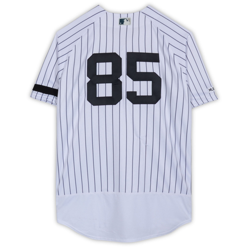 Photo of Luis Cessa New York Yankees Game-Used #85 White Pinstripe Jersey vs. Baltimore Orioles on March 28, 2019 - Size 46