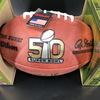 Legends - Broncos Peyton Manning Signed Authentic Football with Super Bowl 50 Logo