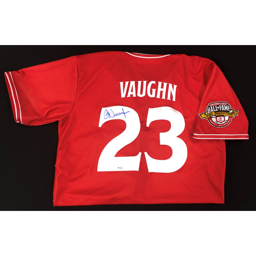 Photo of Greg Vaughn AUTOGRAPHED Game Used Jersey: Reds Hall of Fame Legends Game