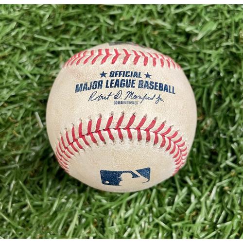 Photo of Game Used ALDS Baseball: Wander Franco foul ball off Hansel Robles - Wander Franco Rookie Season - Bottom 8 - October 8, 2021 v BOS