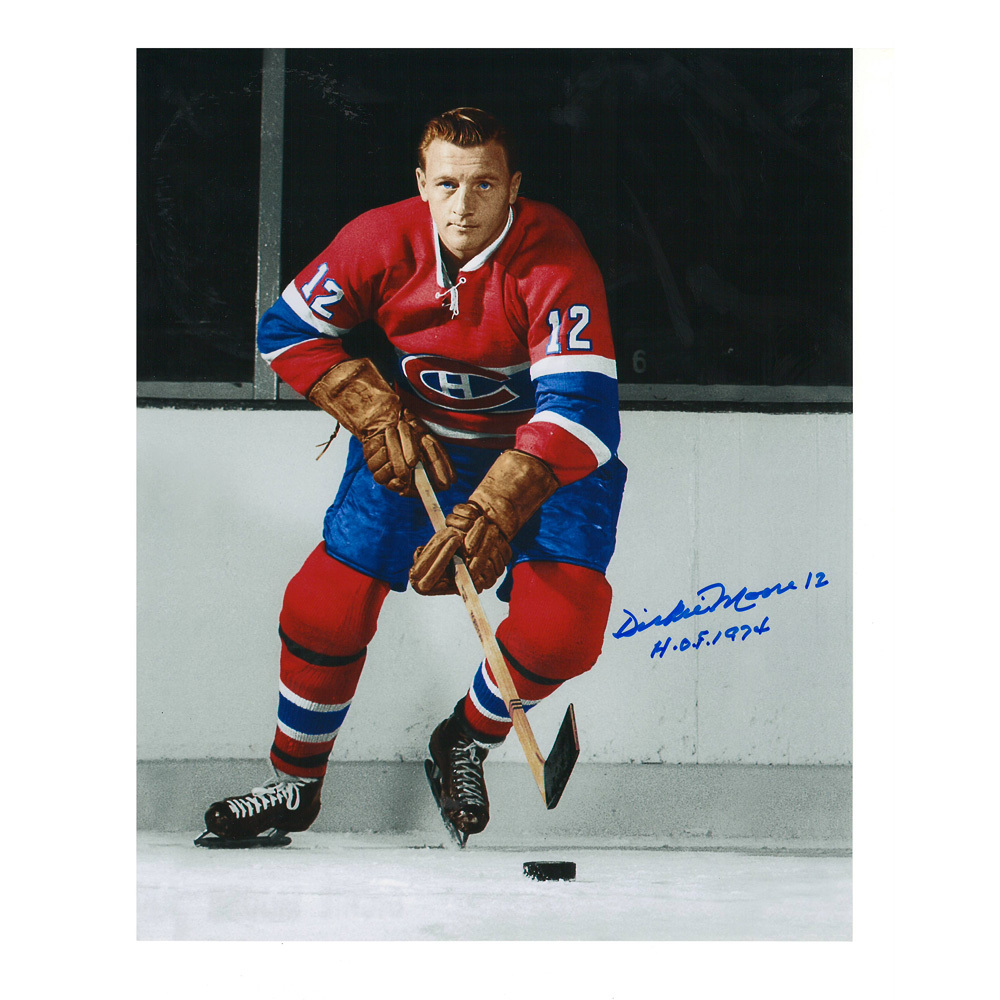 DICKIE MOORE Signed Montreal Canadiens 8 X 10 Photo - 70337