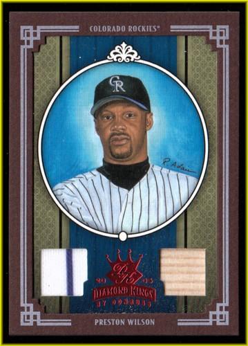 Photo of 2005 Diamond Kings Materials Framed Red #85 Preston Wilson Bat-Jsy/100