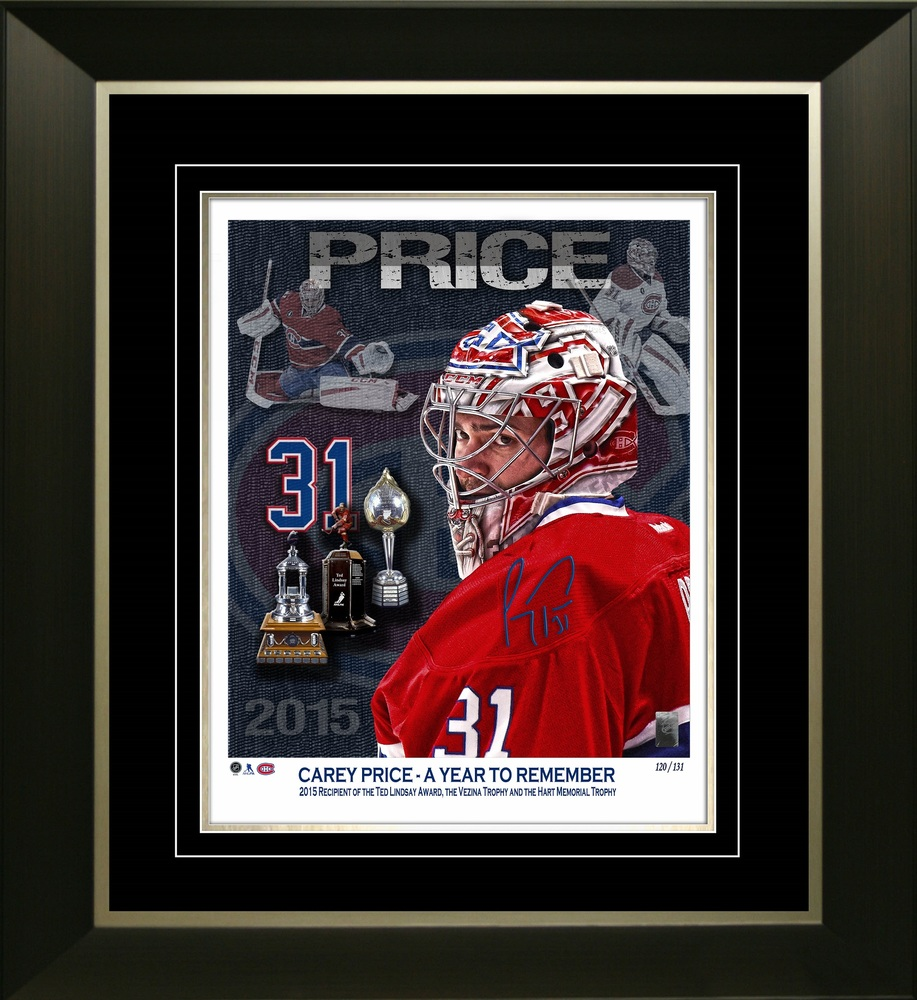 Carey Price - Signed & Framed 11x14