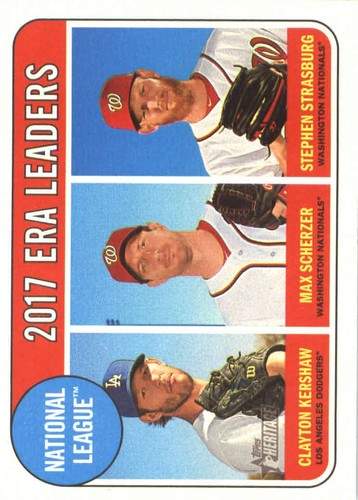 Photo of 2018 Topps Heritage #8 Max Scherzer/Stephen Strasburg/Clayton Kershaw LL