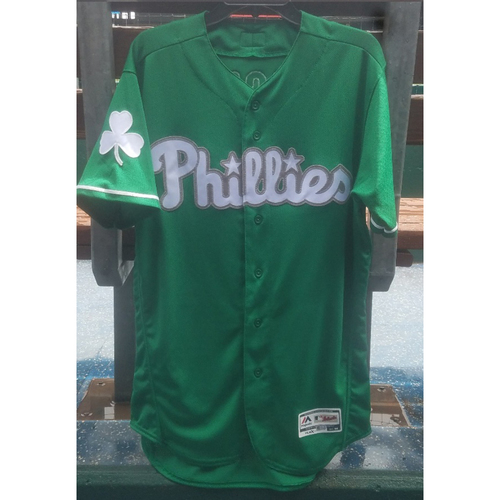 Photo of 2018 Game-Used Scott Kingery St. Paddy's Day Jersey