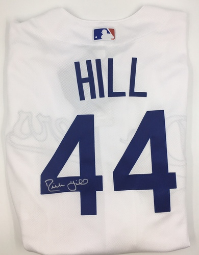 Photo of Rich Hill Autographed Authentic Dodgers Jersey
