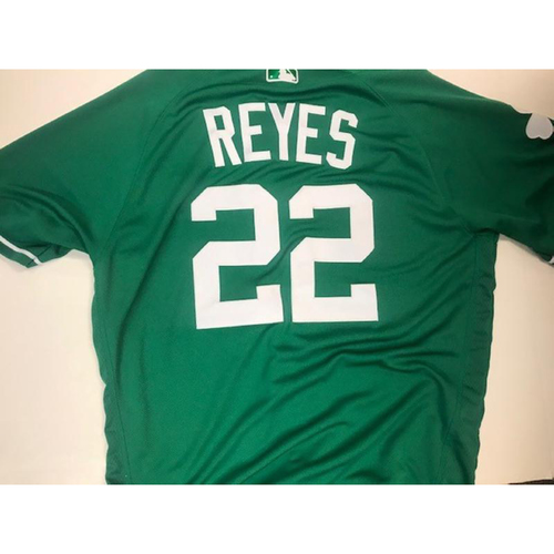 Photo of Game-Used St. Patrick's Day Jersey: Victor Reyes