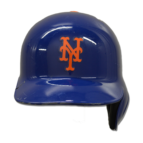 Photo of Steven Matz #32 - Team Issued Blue Batting Helmet - 2017 Season