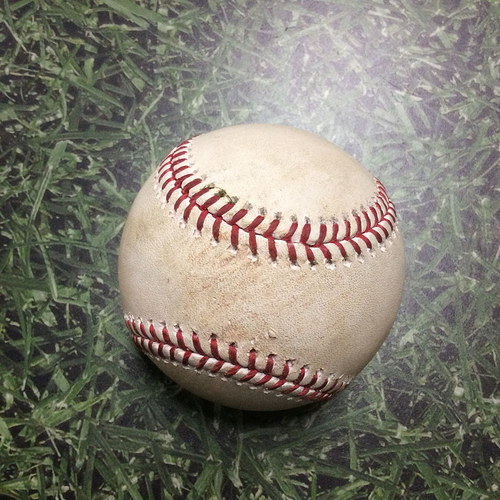 Photo of Game-Used Baseball STL@MIL 05/30/18 - Junior Guerra - Matt Carpenter: Single