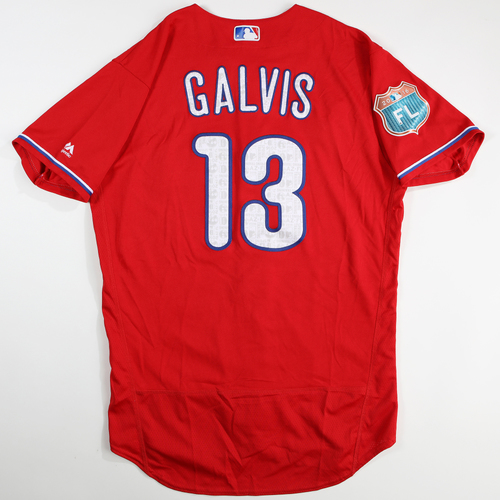 Photo of 2016  Spring Training -  Game-Used Jersey - Freddy Galvis (Phillies) - Size 44