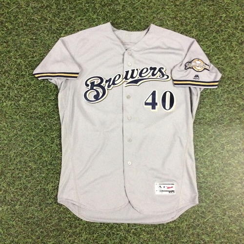 Photo of Jason Lane 2018 Game-Used Opening Day Jersey