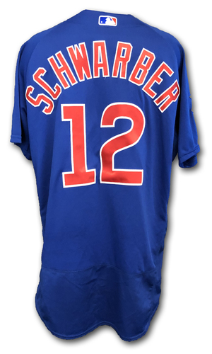 Photo of Kyle Schwarber Team-Issued Jersey -- Size 46 -- Spring Training 2019