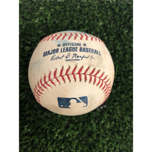 Photo of Matt Boyd Game Used Hit Single Ball  - 6/2/2019