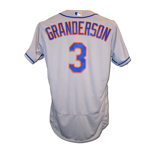 Photo of Curtis Granderson #3 - Team Issued Road Grey Jersey - 2016 Postseason