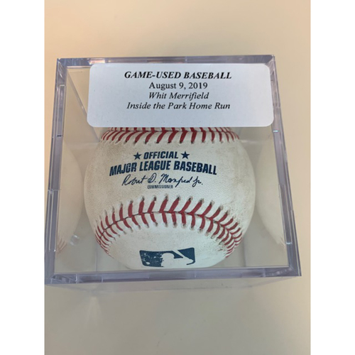 Photo of Game-Used Baseball: Whit Merrifield Inside The Park Home Run