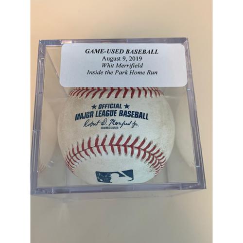 Game-Used Baseball: Whit Merrifield Inside The Park Home Run