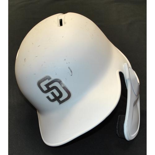 """Photo of Luis """"Wicho"""" Urias San Diego Padres Game-Used 2019 Players' Weekend Helmet"""