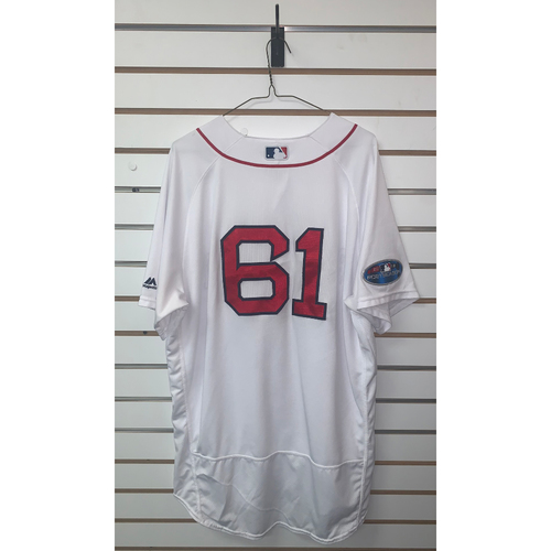 Photo of Brian Johnson Game Used April 5, 2018 Home Jersey