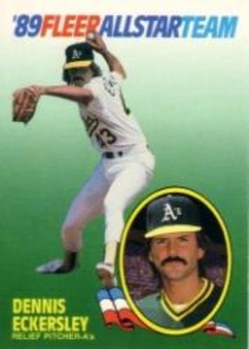 Photo of 1989 Fleer All-Stars #4 Dennis Eckersley