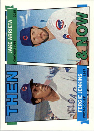 Photo of 2016 Topps Heritage Then and Now #TANJA Jake Arrieta/Fergie Jenkins