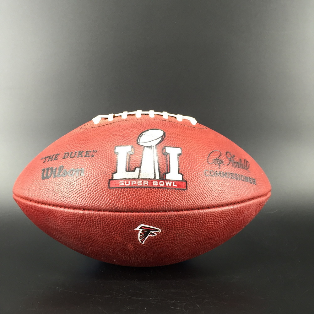 Super Bowl 51 Game Used Ball Falcons Offense/Patriots Defense - This auction is supporting the Marty Lyons Foundation