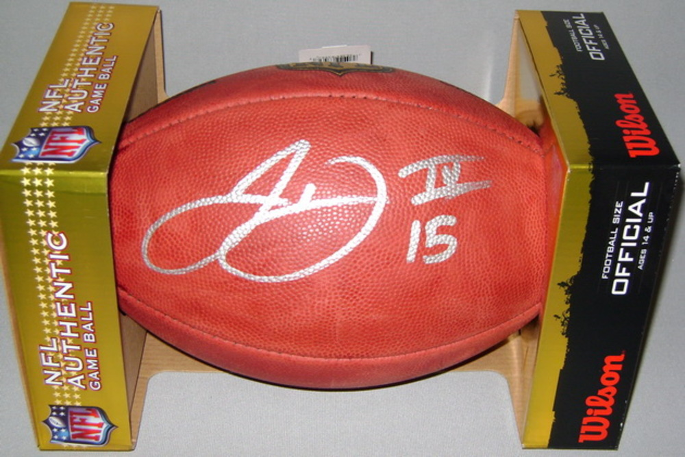 NFL - GIANTS JOHN ROSS SIGNED AUTHENTIC FOOTBALL