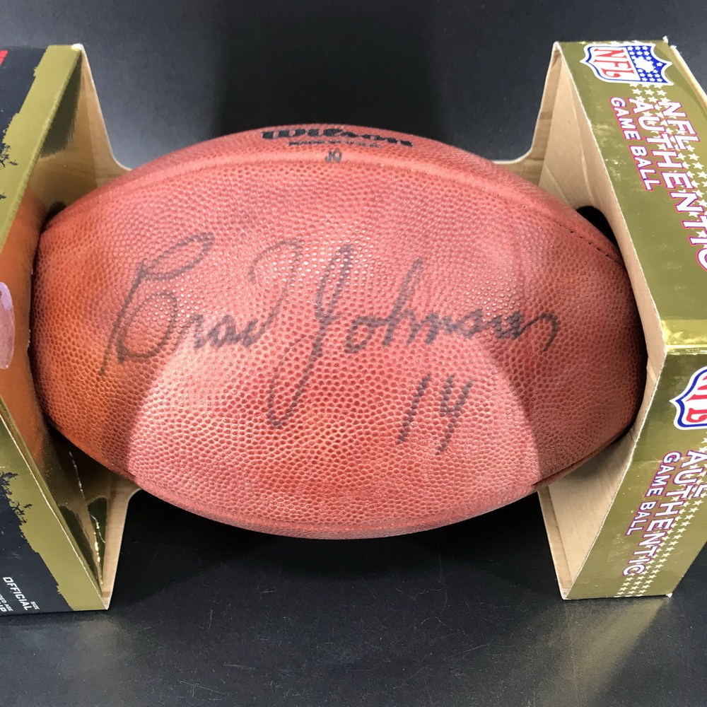 Legends - Buccaneers Brad Johnson Signed Authentic Football