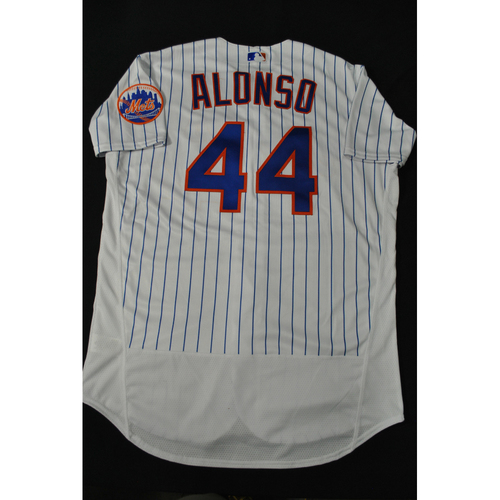 Photo of Hank Aaron Chasing the Dream Foundation: Pete Alonso 2021 MLB All-Star Workout Day BP-Worn # 44 Jersey