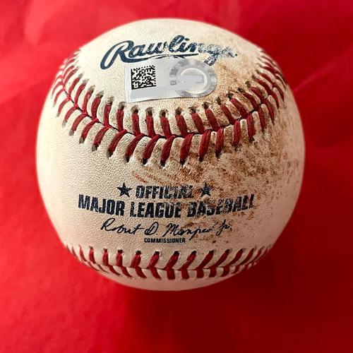 Photo of Game-Used Baseball - Josh VanMeter RBI Single vs. Matt Strahm - Padres @ D-backs 8/14/2021