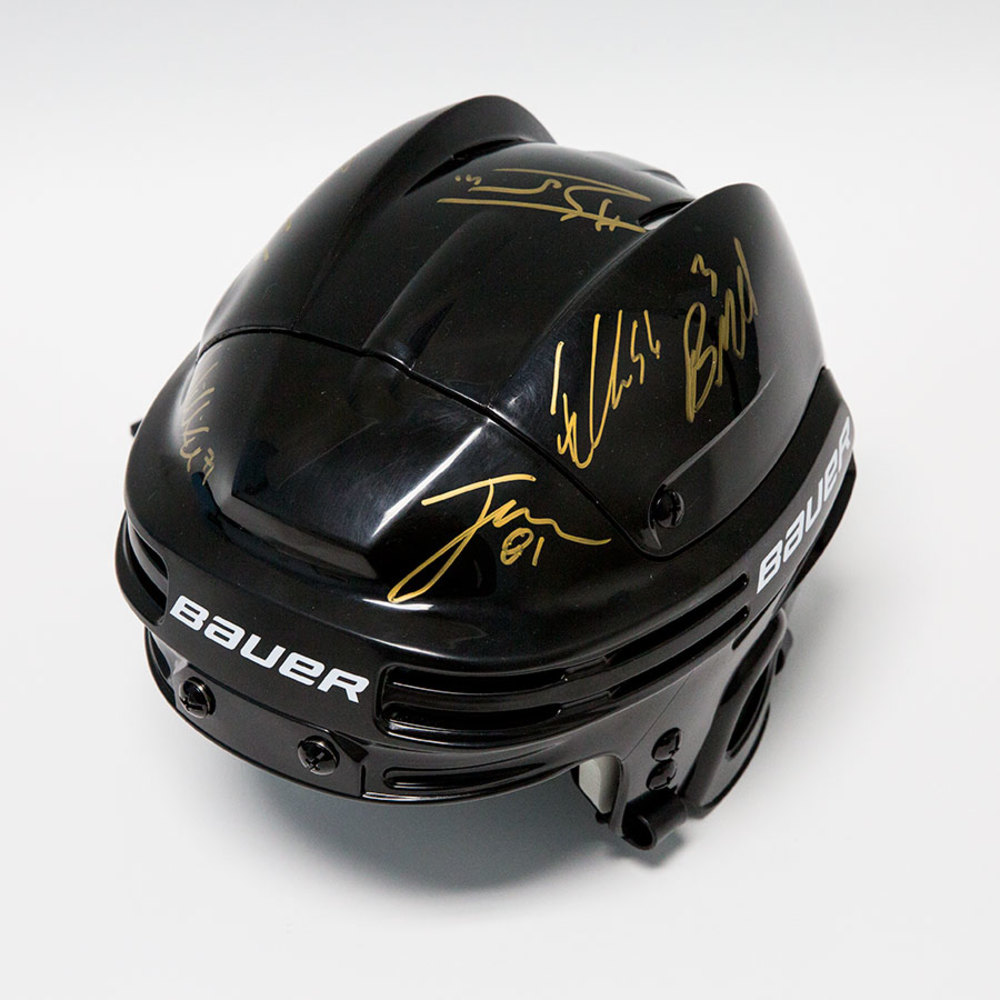 Las Vegas Golden Knights Multi-Signed Bauer Black Hockey Helmet *Marchessault, Karlsson, Haula, Miller, McNabb & Bellemare*