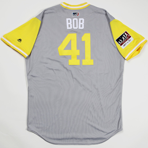 "Photo of Robbie ""Bob"" Erlin San Diego Padres Game-Used 2018 Players' Weekend Jersey"
